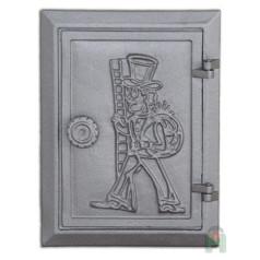 Чугунные дверцы с рисунком DKR4 H1704