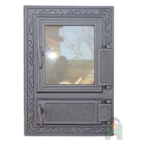 Дверца со стеклом и зольником FPM2 H0310