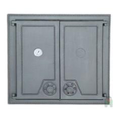 Дверца двустворчатая глухая с термометром H1516