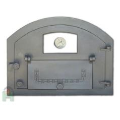 Дверь со стеклом, дополнительной дверцей и термометром правая Пицца 4T H2208