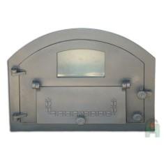 Дверь со стеклом и дополнительной дверцей левая H2205