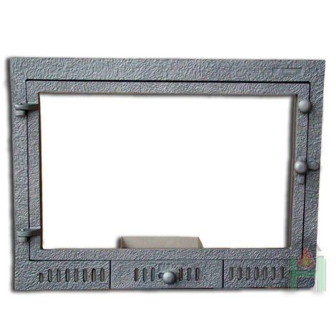 Дверца под стекло с зольником FPL3 H0323