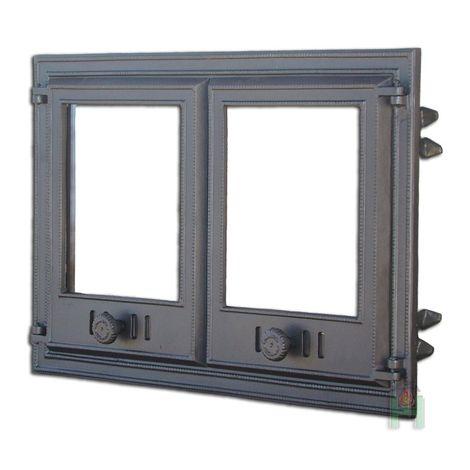 Дверца двустворчатая со стеклом DCHP3 H1103