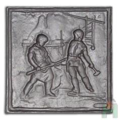 Чугунная плита Кузнецы H0511