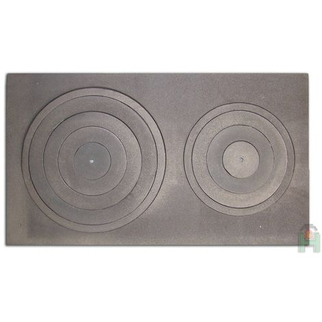 Чугунная кухонная плита двухконфорочная L7 H2637