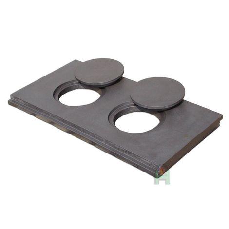Чугунная кухонная плита двухконфорочная L13 H2643