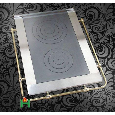Плита с двумя конфорками и рейлингом с трех сторон L6 H2671