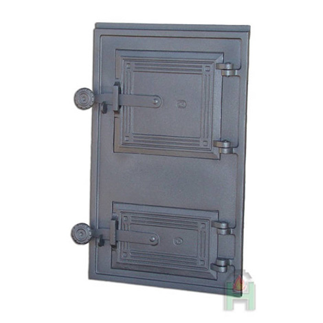 Чугунные двери для печи с дополнительной дверцей DPK11 H1616