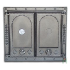 Дверца двустворчатая глухая с термометром H1517
