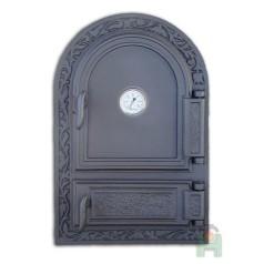 Дверца глухая с зольником и термометром H1520