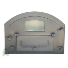 Дверь со стеклом и дополнительной дверцей правая Пицца 4 H2206