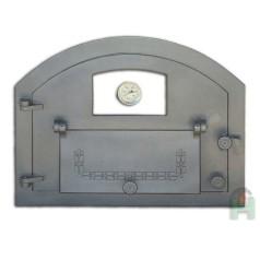 Дверь со стеклом, дополнительной дверцей и термометром левая Пицца 3Т H2207