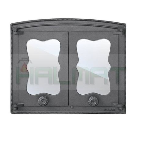 Дверца двустворчатая со стеклом БАТУМИ III H3503