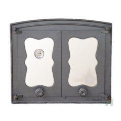Дверца двустворчатая со стеклом и термометром БАТУМИ IV H3504