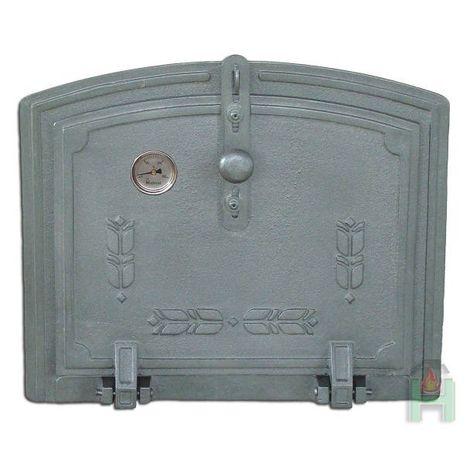 Дверь духовки с термометром глухая откидная H1812