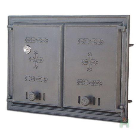 Дверца двустворчатая глухая с термометром DCHP 2 Н1102