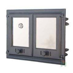 Дверца двустворчатая со стеклом и термометром DCHP4 H1104