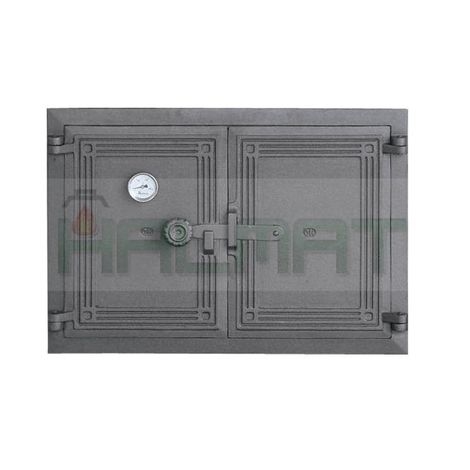 Дверца двустворчатая с термометром и засовом DCHP5T H1106
