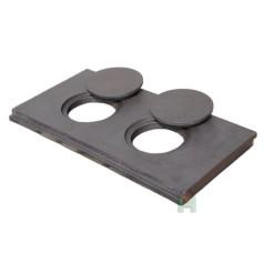 Чугунная кухонная плита двухконфорочная L10 H2640