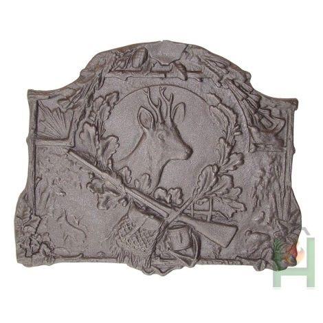Чугунная плита Голова оленя H0515