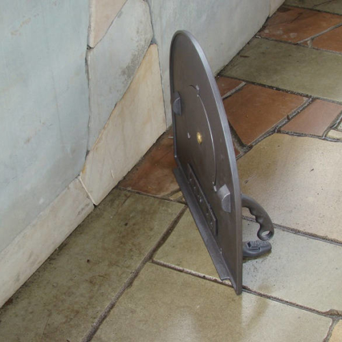 H2210 - Чугунная дверца для пиццы глухая с термометром ПИЦЦА 5T