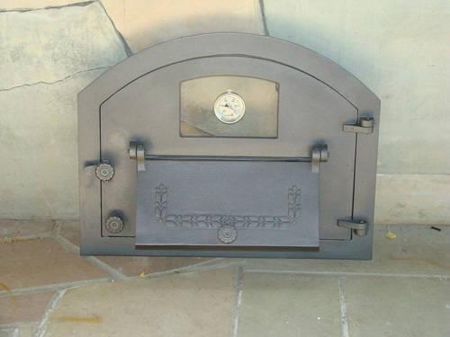 H2208 - Дверца со стеклом, дополнительной дверцей и термометром правая Пицца 4T