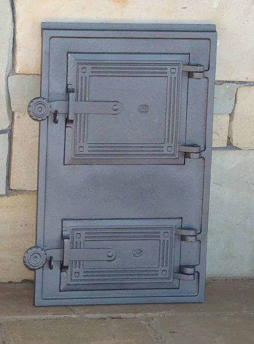 H1616 - Дверца топки с люком для золы и двойной дверцей
