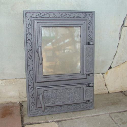 H0310 - Дверца со стеклом и зольником правая