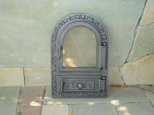 H0309 - Дверца со стеклом и зольником с шибером