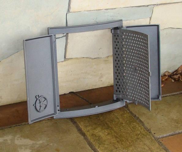 H3505 - Дверца двустворчатая с дополнительной решеткой FIN