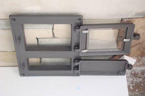 H1610 - Дверца топки со стеклом с люком для золы