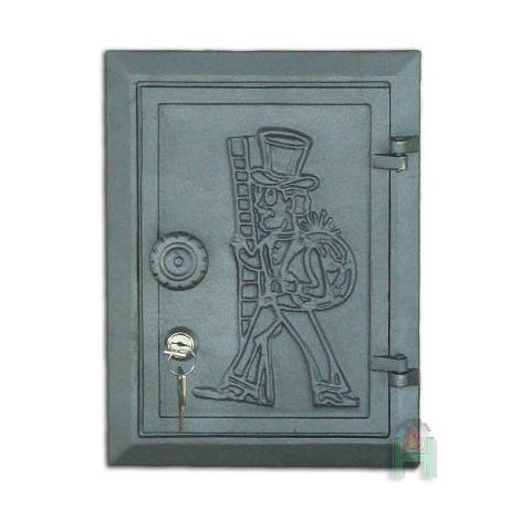 H1705 - Дверца прочистки с замком и узором