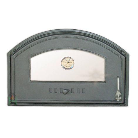 H1307 - Дверца со стеклом и термометром левая