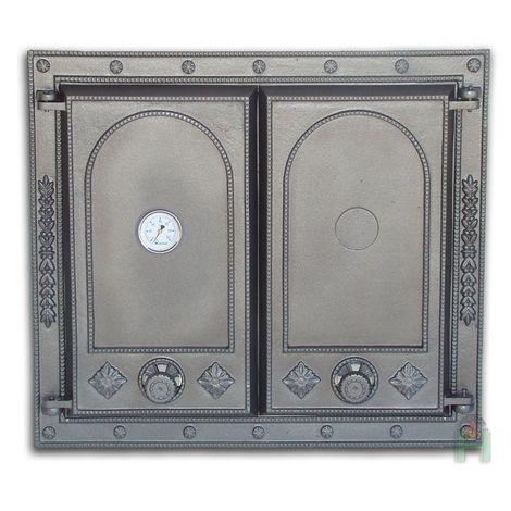 H1517 - Дверца двустворчатая глухая с термометром