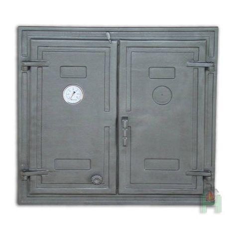 H1526 - Дверца двустворчатая глухая с термометром