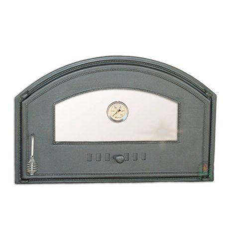 H1308 - Дверца со стеклом и термометром правая