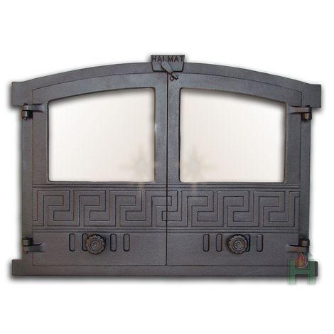 H2003 - Дверца двустворчатая со стеклом ГРЕЦИЯ 3