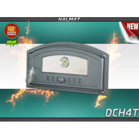 H1008 - Дверца со стеклом с термометром правая