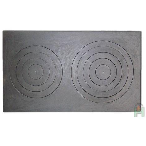 H2639 - Чугунная кухонная плита двухконфорочная