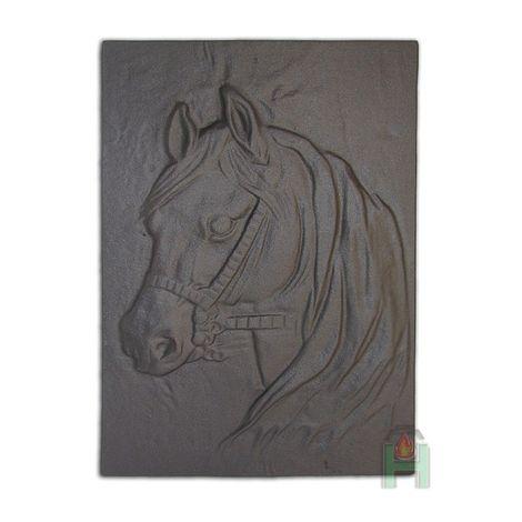 H0508 - Чугунная каминная плита Лошадь