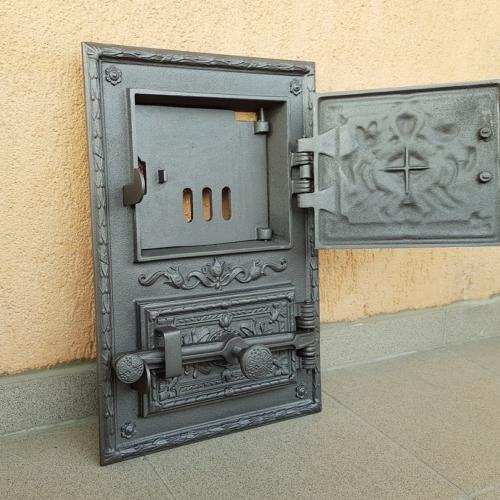 H3602 HUBOS - Дверца топки с люком для золы Ирис