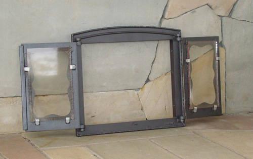 H3503 - Дверца двустворчатая со стеклом БАТУМИ III