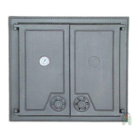 H1516 - Дверца двустворчатая глухая с термометром