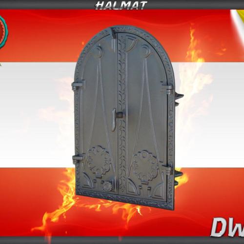 H1514 - Чугунная дверца двустворчатая глухая