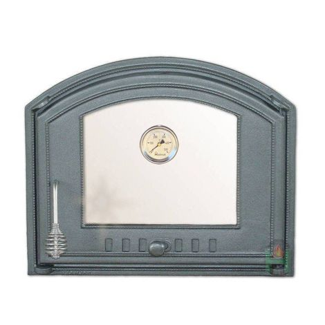 H1208 - Дверца со стеклом и термометром правая