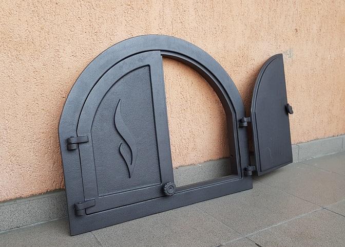 H3902 HUBOS - Чугунная дверца Panama 2 с термометром