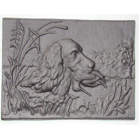 H0514 - Чугунная плита Собака с уткой